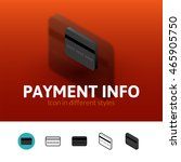 payment info color icon  vector ...