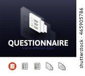 questionnaire color icon ...
