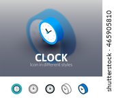 clock color icon  vector symbol ...