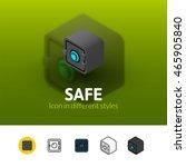 safe color icon  vector symbol...