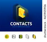 contacts color icon  vector...