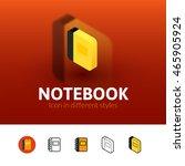 notebook color icon  vector...