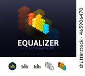 equalizer color icon  vector...
