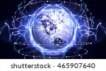 earth disco ball background  | Shutterstock . vector #465907640