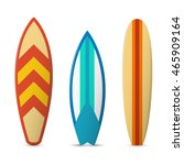 color surfboard set. sea... | Shutterstock .eps vector #465909164