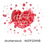 hand sketched thank you text as ... | Shutterstock .eps vector #465910448