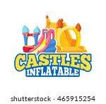 vector cartoon emblem of... | Shutterstock .eps vector #465915254