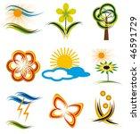 set of elements of nature.... | Shutterstock .eps vector #46591729