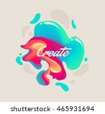 isolated cute abstract liquid... | Shutterstock .eps vector #465931694