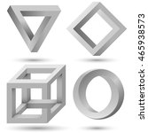shaded impossible geometric... | Shutterstock .eps vector #465938573
