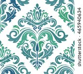 damask vector classic colorful... | Shutterstock .eps vector #465940634