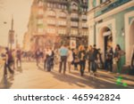 people on the street. blurred... | Shutterstock . vector #465942824