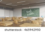 classroom interior with posters ... | Shutterstock . vector #465942950
