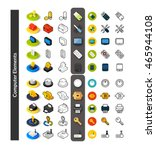 set of icons in different style ... | Shutterstock .eps vector #465944108