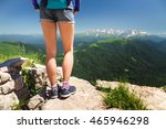 woman legs in shorts and... | Shutterstock . vector #465946298
