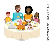 happy multicultural family... | Shutterstock . vector #465947180