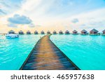 beautiful tropical maldives... | Shutterstock . vector #465957638