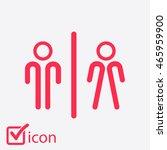 wc sign icon. toilet symbol....