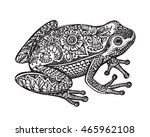 black and white hand drawn... | Shutterstock .eps vector #465962108