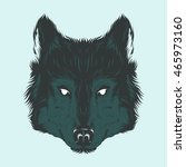 wolf head hand draw | Shutterstock .eps vector #465973160