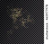 splash gold 3d transparent... | Shutterstock . vector #465977978