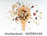 mixed legumes pulses in a... | Shutterstock . vector #465984140
