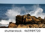 Sea Waves Hitting Rocks