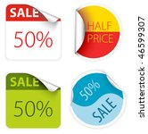 set of fresh two colors sale... | Shutterstock .eps vector #46599307