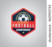 soccer logo design vector... | Shutterstock .eps vector #465993743