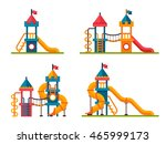 set of different children slide ... | Shutterstock .eps vector #465999173