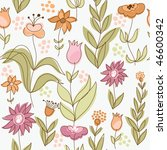 seamless floral background | Shutterstock .eps vector #46600342