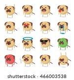set of  dog emoticon vector... | Shutterstock .eps vector #466003538