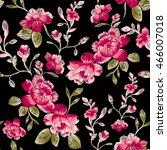 Seamless Pattern Of Peonies On...