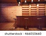 bar interior with wooden... | Shutterstock . vector #466010660