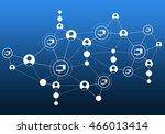 social media communication | Shutterstock . vector #466013414
