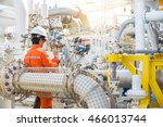 offshore oil and gas industry ... | Shutterstock . vector #466013744