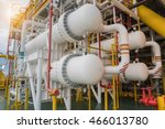 gas cooler at oil and gas... | Shutterstock . vector #466013780