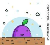 line fruit illustration. nice...