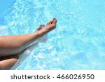 Legs In The Pool With Clean...