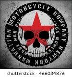 skull t shirt graphic design | Shutterstock .eps vector #466034876