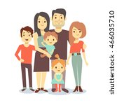 cute cartoon family vector... | Shutterstock .eps vector #466035710