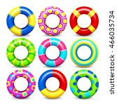 colorful swim rings vector set | Shutterstock .eps vector #466035734