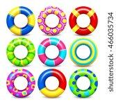 Colorful Swim Rings Vector Set