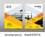 vector yellow annual report... | Shutterstock .eps vector #466035974