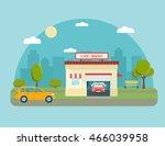 car wash station building. city ... | Shutterstock .eps vector #466039958