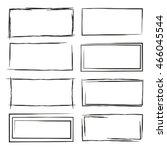 black grunge frame set | Shutterstock .eps vector #466045544