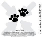 web line icon. animal footprint. | Shutterstock .eps vector #466047830