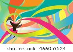 torch vector abstract colors... | Shutterstock .eps vector #466059524