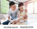 asian family father or dad and... | Shutterstock . vector #466062434