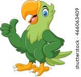 cartoon happy parrot giving...   Shutterstock .eps vector #466063409